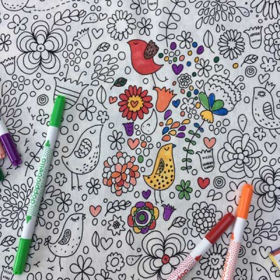Washable Doodle Tablecloth