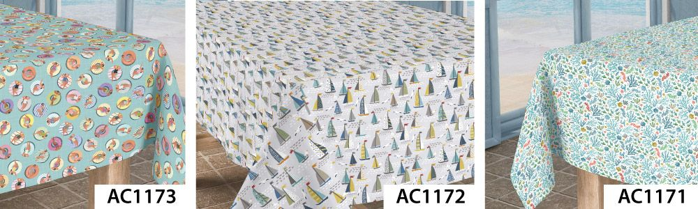 Wipeclean Acrylic Coated Tablecloths