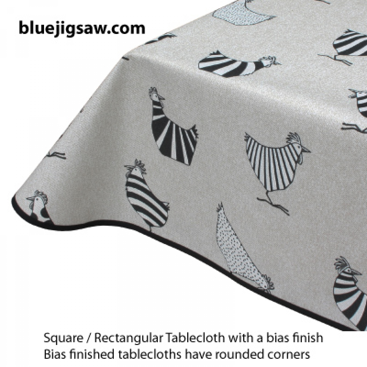 Acrylic Coated Tablecloths - Edge Finishing