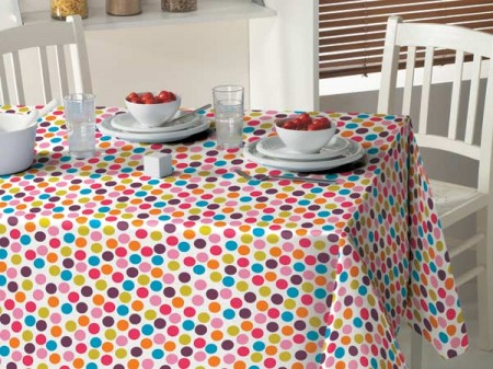 Extra Wide Wipeclean Pvc Tablecloths Confetti Extra