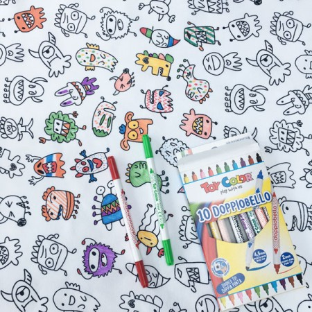 Monsters Doodle Tablecloth